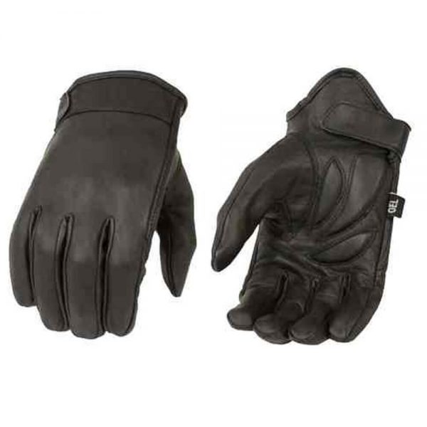 Milwaukee Leather Men's Premium Leather Short Cruiser Gloves - Black