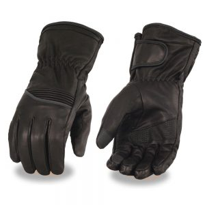 Milwaukee Leather Men's Waterproof Gauntlet Glove w/ Flex Knuckle & Reflective Trim – Touch Screen Fingers