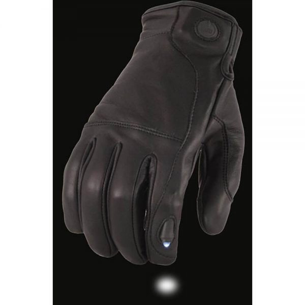 Milwaukee Leather Men's Leather Gloves with LED Finger Lights