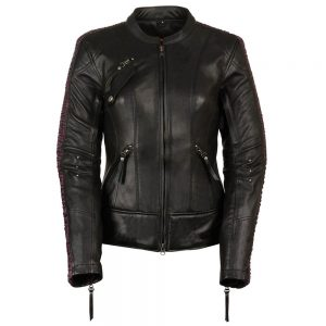 Milwaukee Leather Women's Embossed Phoenix Jacket Black/Purple