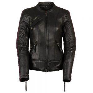 Milwaukee Leather Women's Embossed Phoenix Jacket Black/Purple