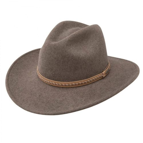 Stetson Pinedale – Soft Crushable Wool Outback Hat – Olive Mix