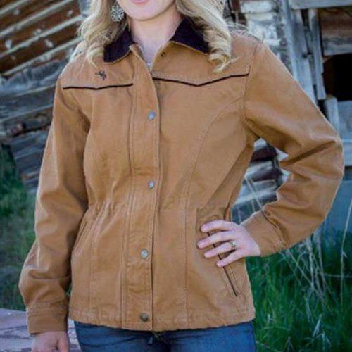 Wyoming Traders Women's Shoshone Canvas Jacket - Tan