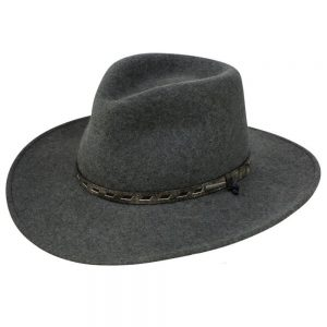 Stetson Saginaw - Soft Crushable Wool Hat - Grey