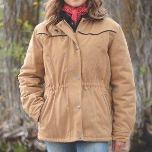 Wyoming Traders Women's Canvas Ranch Coat - Tan