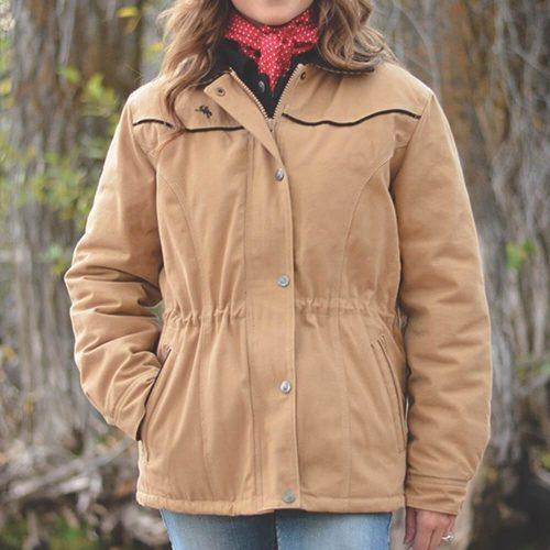 Wyoming Traders Women's Canvas Ranch Coat - Tan